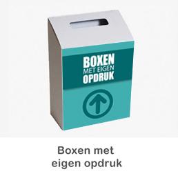 donatiebox met eigen logo