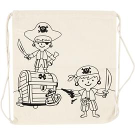 Rugzak canvas piraat