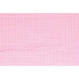 Stof Tissu de Marie kleine ruiten roze