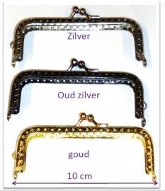 Portemonnee sluiting 10 cm zilver