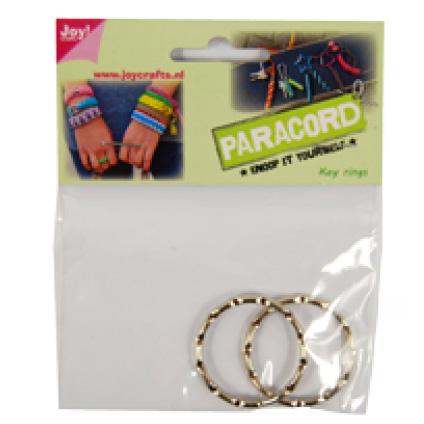 Paracord 2 metalen ringen