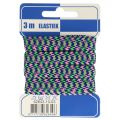 Elastiek zigzag blauw groen roze 10mm, 3m