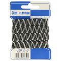 Elastiek zigzag 10mm, 3m zwart grijs