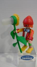 Clown met zonnebloem