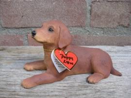 beeldje Ierse Setter puppy