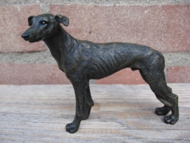 beeldje Greyhound brindle