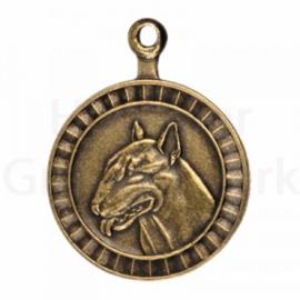 bronzen penning Engelse Bull Terriër