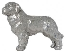 sculptuur Newfoundlander zilvertin