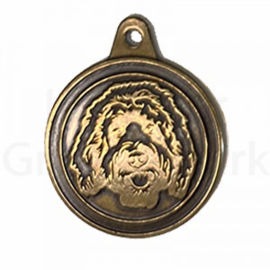 bronzen penning Labradoodle