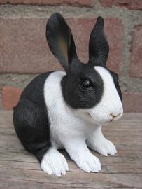 beeldje konijn zwart-wit