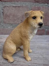 beeldje Border Terrier zittend