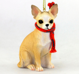 Chihuahua korthaar ornamentje/beeldje