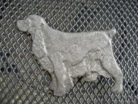 vintage grille-embleem Engelse Cocker spaniel