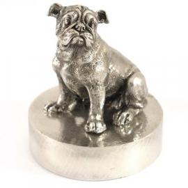 sculptuur Engelse Bulldog op asbestemming