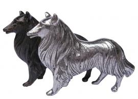 miniatuur Schotse Collie zilvertin