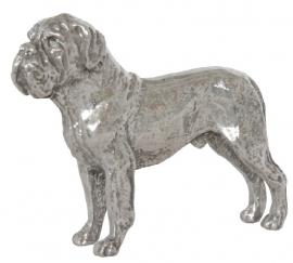 miniatuur Bordeaux Dog zilvertin