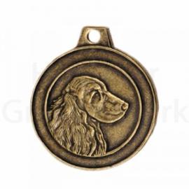 bronzen penning Engelse Cocker spaniel