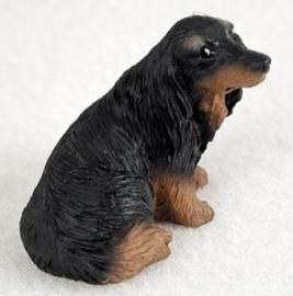 miniatuur Teckel black & tan langhaar