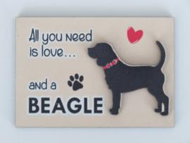 koelkastmagneet Beagle