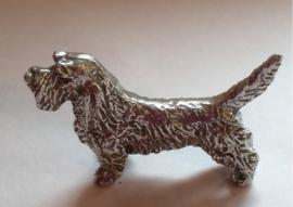 miniatuur Basset Griffon vendeen zilvertin