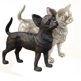 sculptuur Chihuahua zilvertin