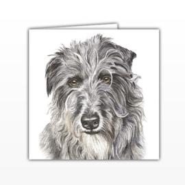 wenskaart Deerhound