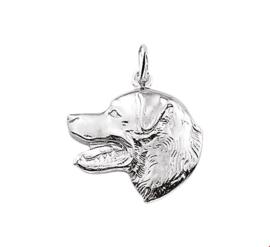 zilveren hanger kop Labrador