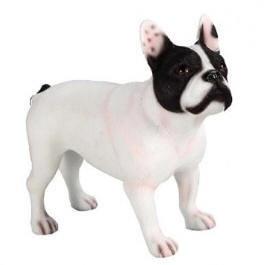 beeldje Franse Bulldog wit-zwart