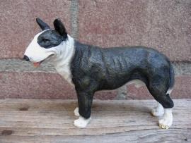 beeldje Engelse Bull Terrier brindle-wit
