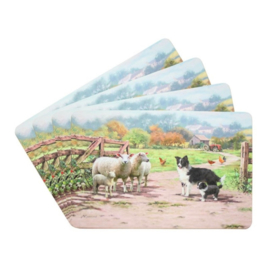placemats Border Collie met schapen