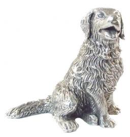 sculptuur Berner Sennenhond zilvertin