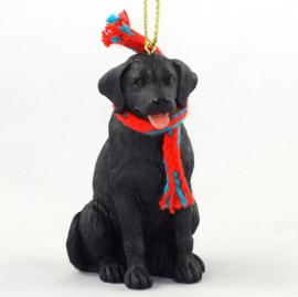 Labrador zwart ornamentje/beeldje