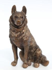 beeldje Duitse Herder bronskleur