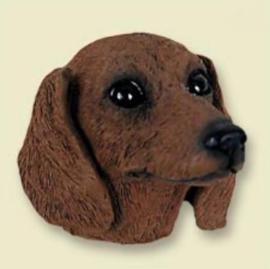 koelkastmagneet Teckel bruin