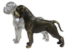 sculptuur Boxer zilvertin