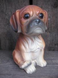 beeldje Boxer puppy porselein vintage