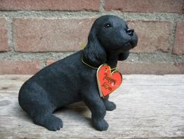 beeldje Cocker spaniel puppy zwart