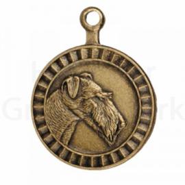 bronzen penning Airedale Terriër