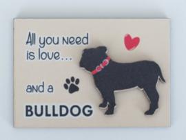 koelkastmagneet Engelse Bulldog