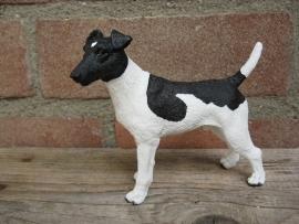 beeldje Fox Terrier gladhaar zwart-wit