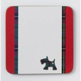 onderzetters Schotse Terriër rood