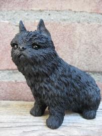 beeldje Belgische Griffon zwart