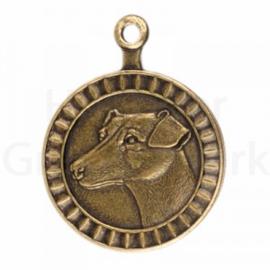 bronzen penning Jack Russell Terriër