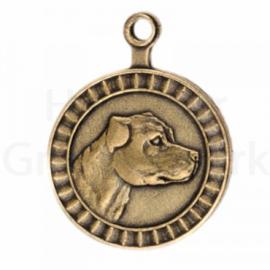 bronzen penning Staffordshire Bull Terriër