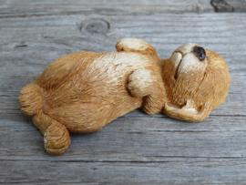 (nieuw)vintage beeldje Labrador blond donker