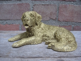 beeldje Sint Bernardhond liggend