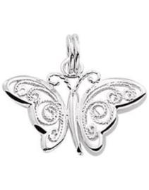 zilveren hanger Vlinder