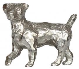 sculptuur Jack Russell Terrier zilvertin