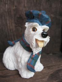 beeldje Schotse Terriër wit