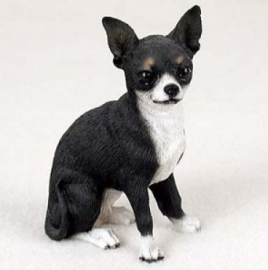 beeldje Chihuahua zwart/wit